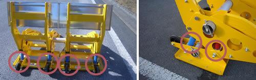 斜め25度からの進入にも対応可能。横転事故につながらない