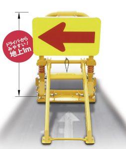 規制看板装置としても車両を安全に誘導できる