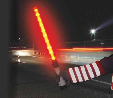 警報器付きLED誘導棒「レッドホーン」