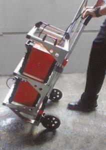 大きなタイヤで安定性に優れて、移動が簡単!