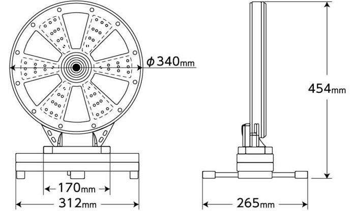 携行式LED警告灯「ピカポンⅡ」寸法