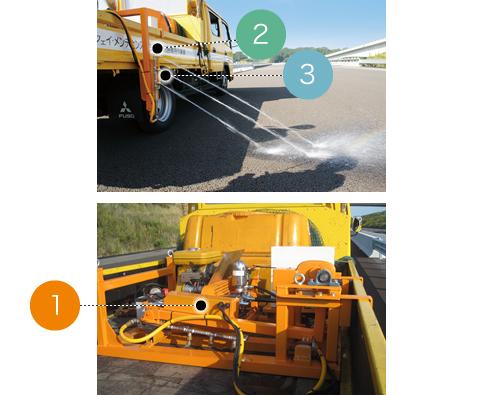 自走式除草剤散布機 カラスンダ80 基本機能