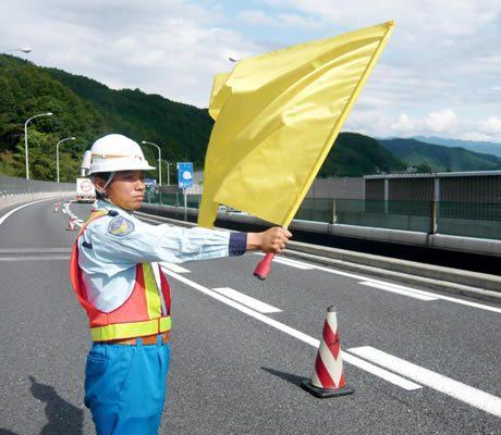 巻き付け防止・警報器付き安全旗「からまんでーⅡ」