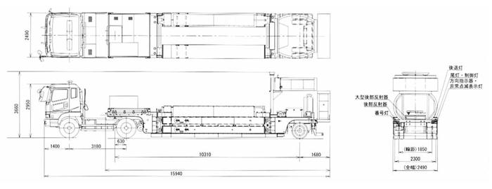 -大型移動式防護車両 ハイウェイ・トランスフォーマーの構造図