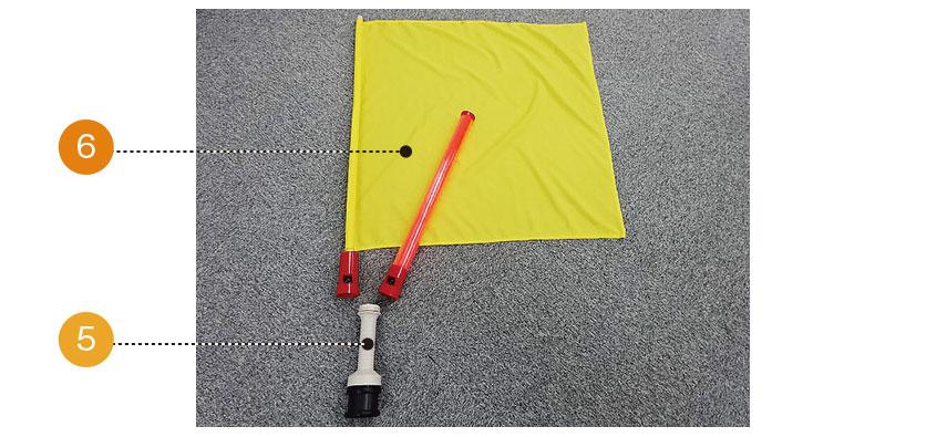 高輝度LED・警報器付き誘導棒 レッドホーンW基本機能